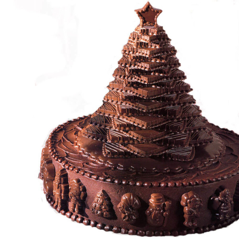 christmas cake ideas chocolate tree