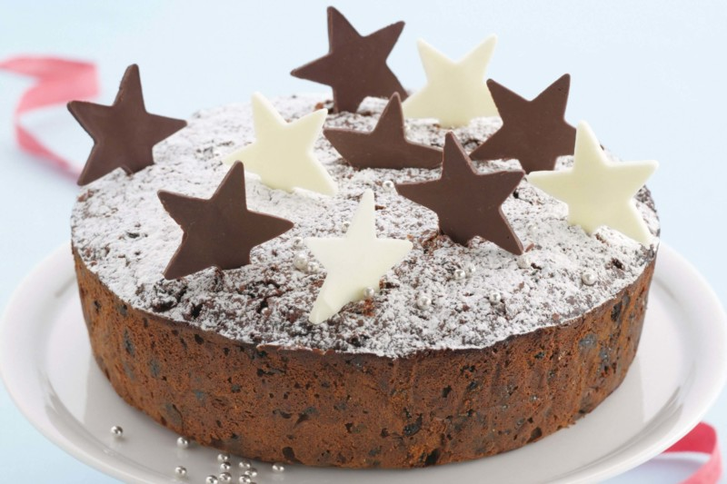 christmas cake ideas cholocate stars