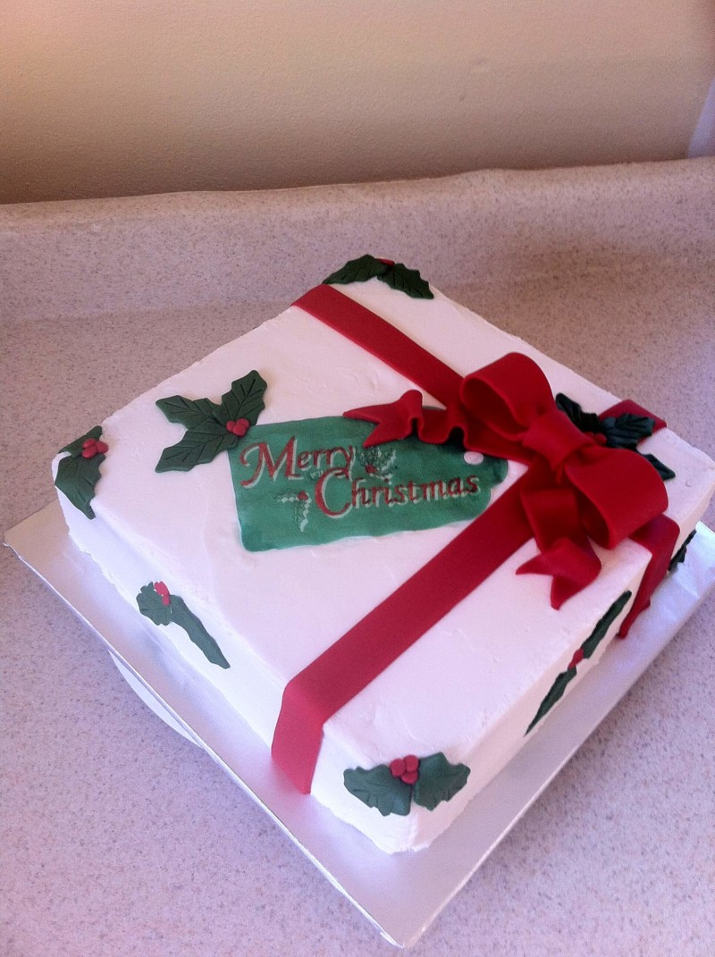 christmas cake ideas gift wrap