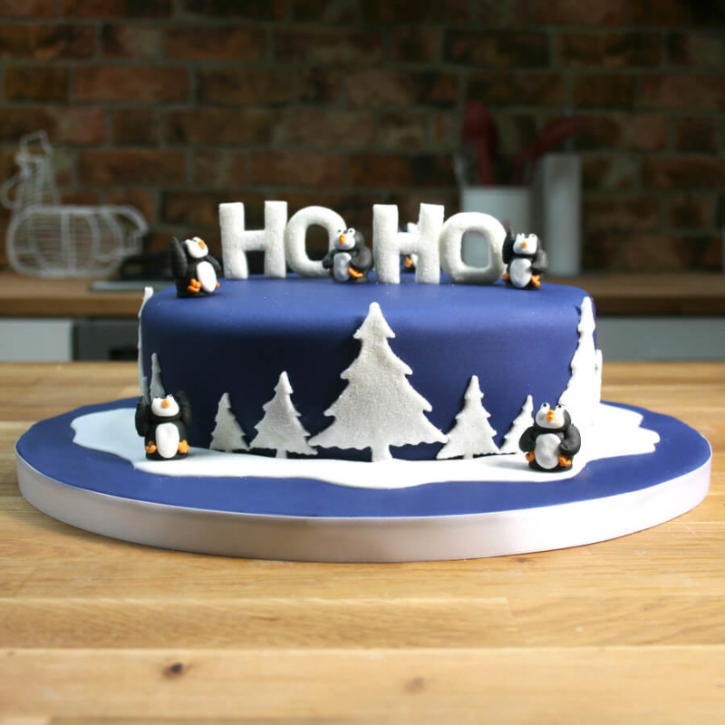 christmas cake ideas hoho topping