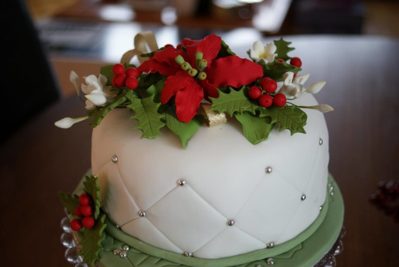 christmas cake ideas leaves