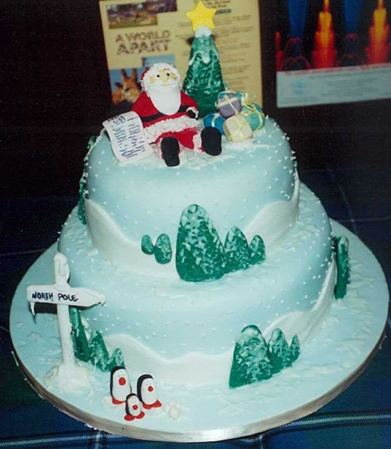 christmas cake ideas north pole