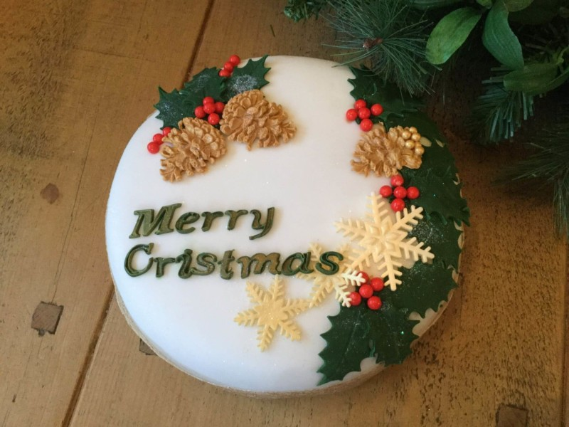 christmas cake ideas pine cone