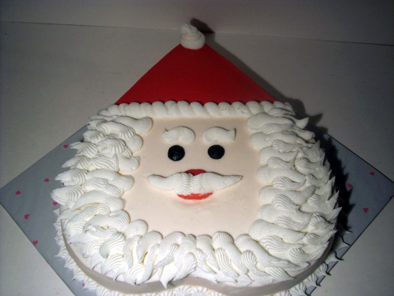 christmas cake ideas santa face