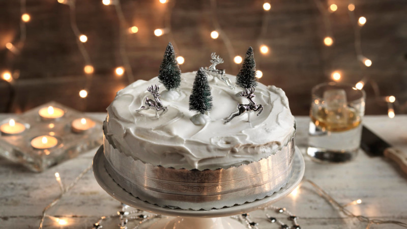 christmas cake ideas snow