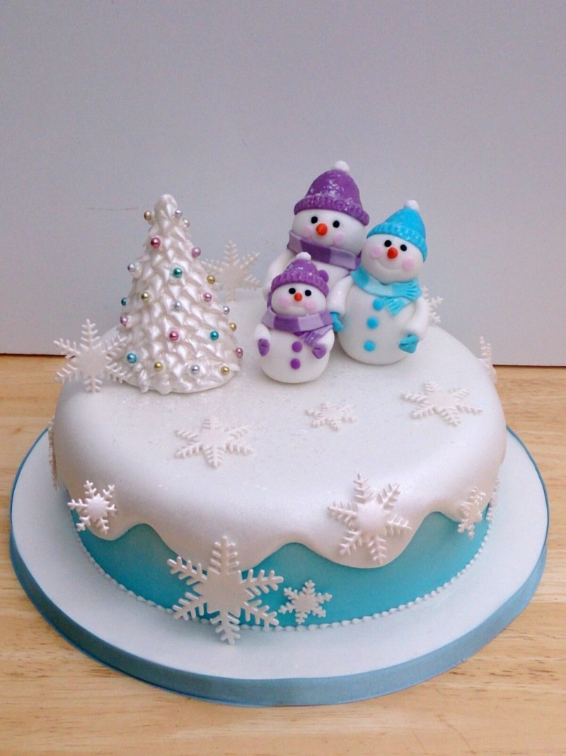 christmas cake ideas snowman