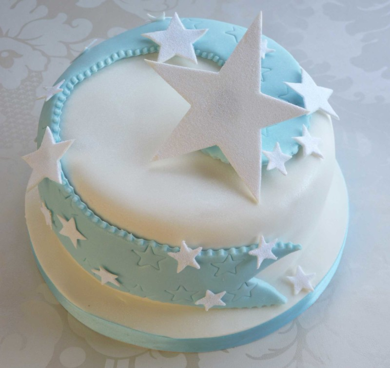christmas cake ideas stars blue