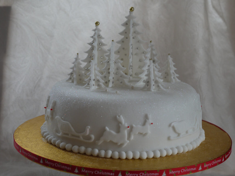 christmas cake ideas tree beautifu;