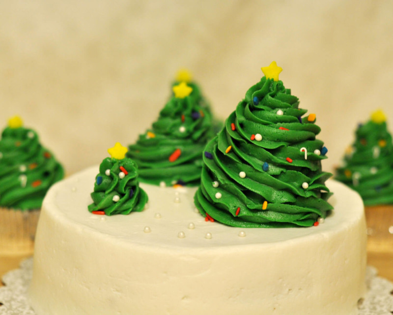 christmas cake ideas tree toppping