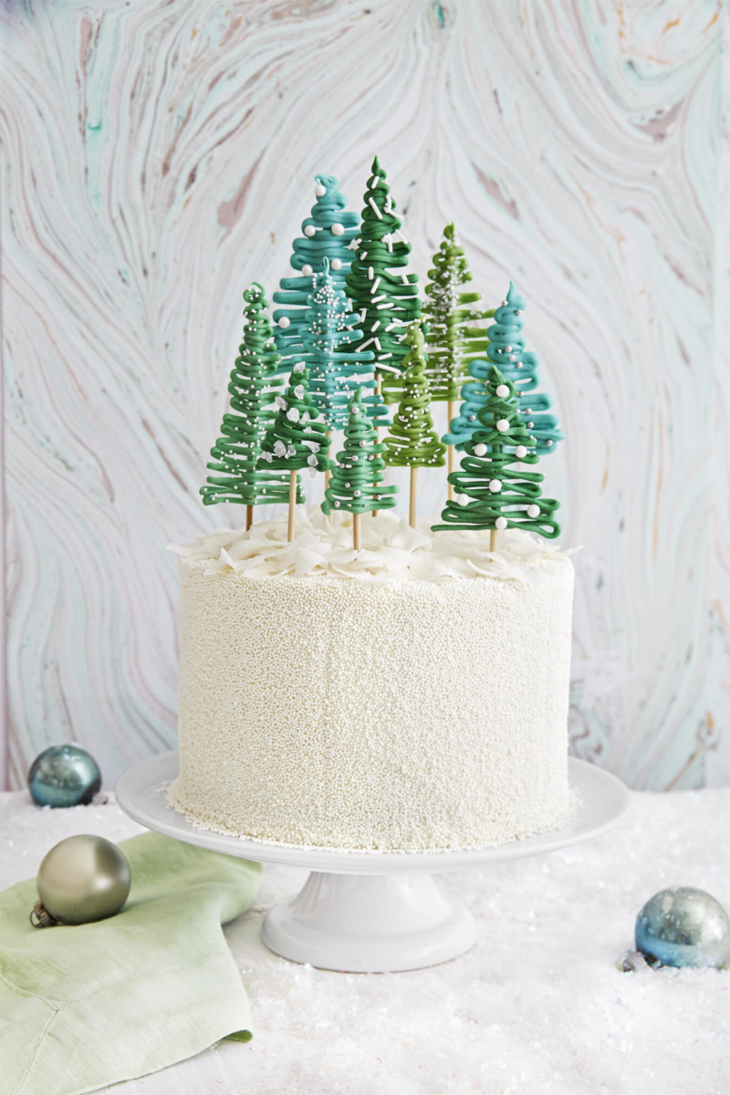 christmas cake ideas trees