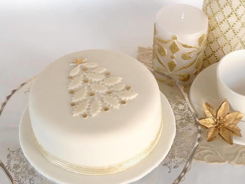 christmas cake ideas white