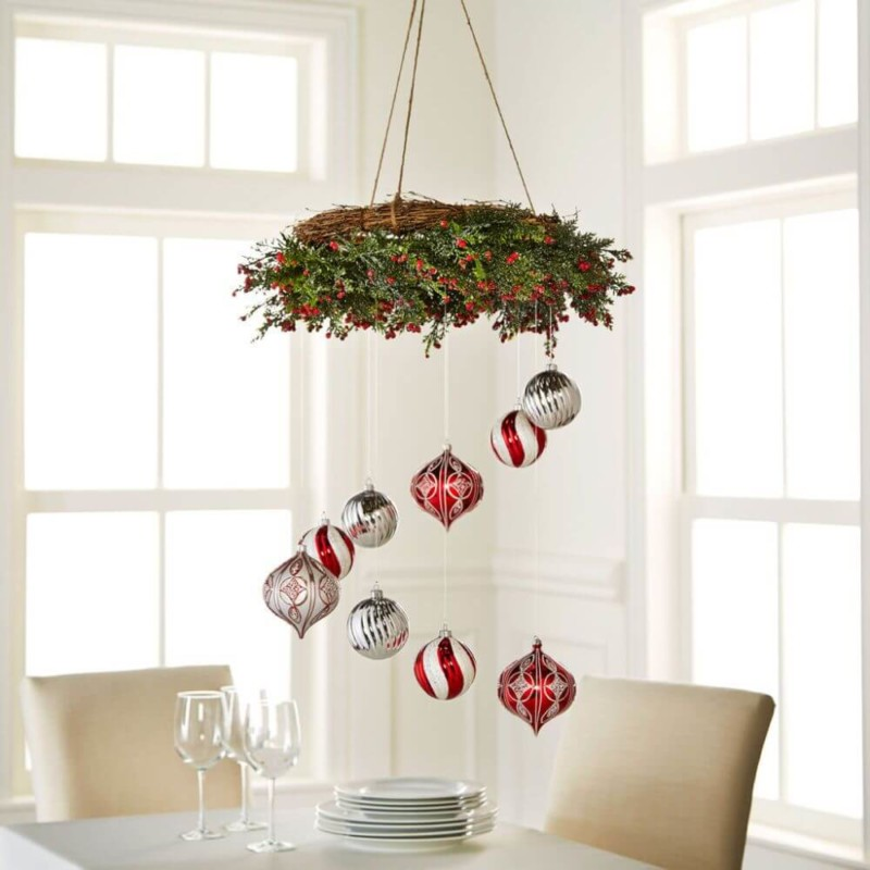 colourful chandelier ideas Christmas decorations ideas for home