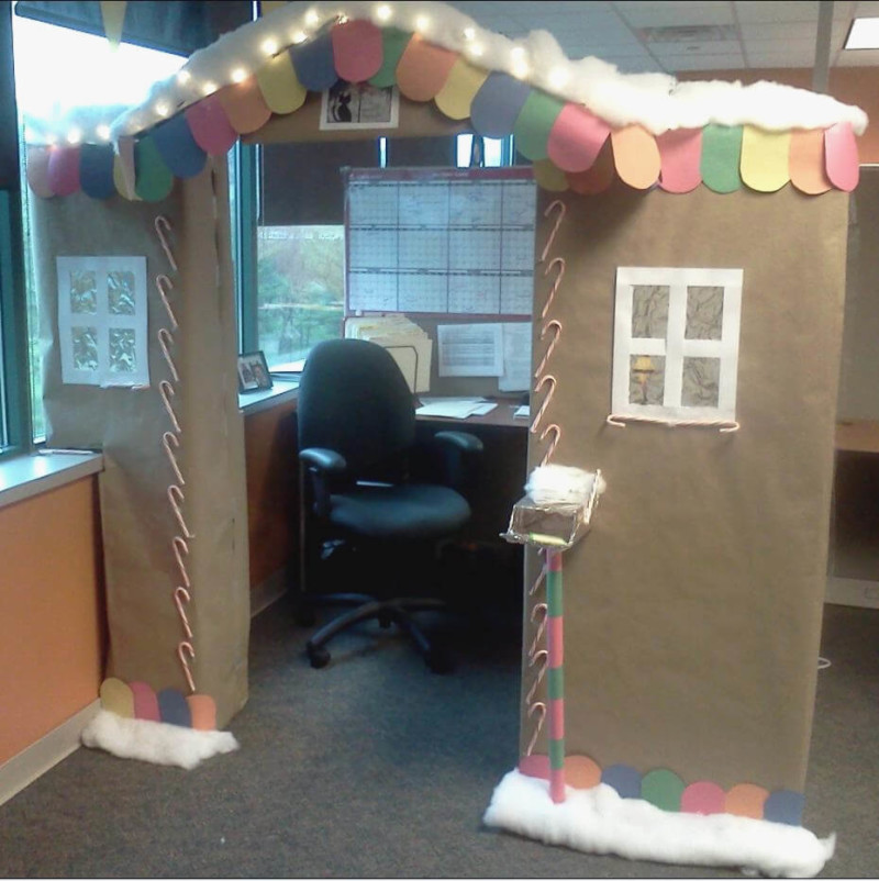 Cubicle Décor Ideas To Make Your Home Office Pop: 50+ Wonderful Christmas Decorations Ideas For Office