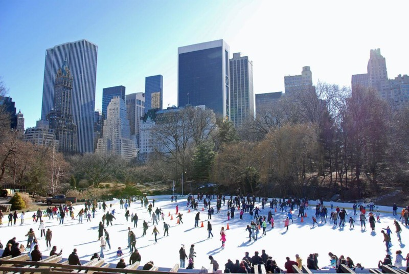 ice skating at the Wollman Rink Christmas in New York