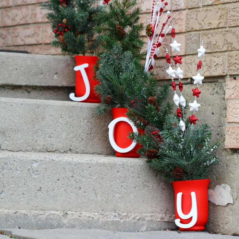 joyful steps Christmas decorations ideas for home