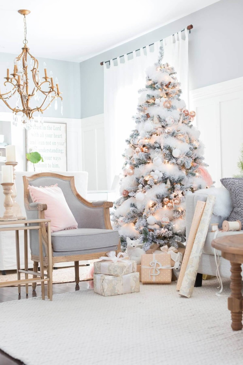 living room Christmas decorations ideas for home