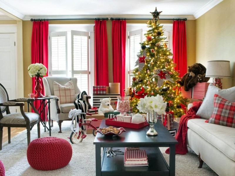 living room amazing Christmas decorations ideas for home