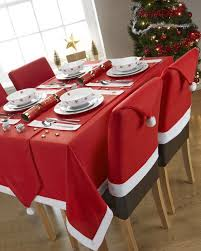 santa hat dinning table Christmas decorations ideas for home