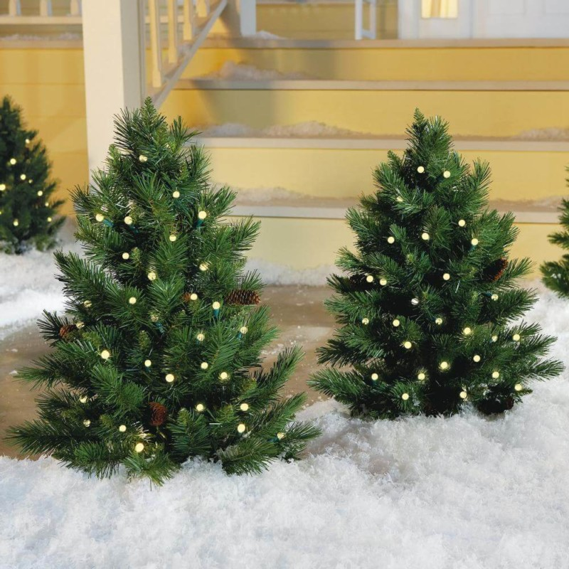 small christmas tree on porch Christmas decorations ideas for home