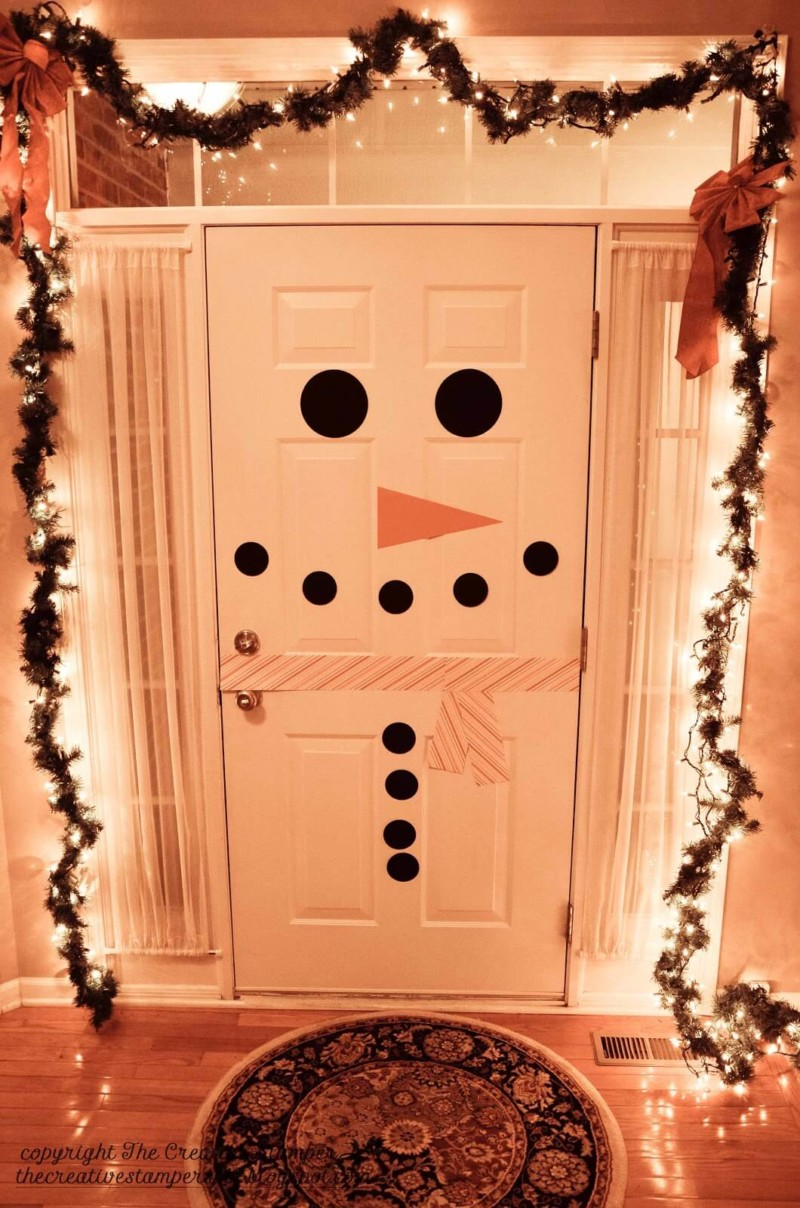 snowman door Christmas decorations ideas for home