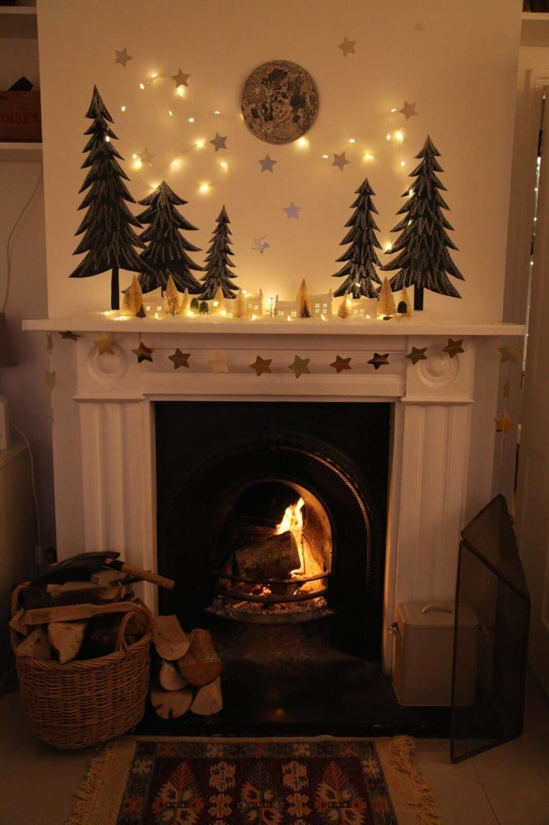 stars trees lights Christmas decorations ideas for home
