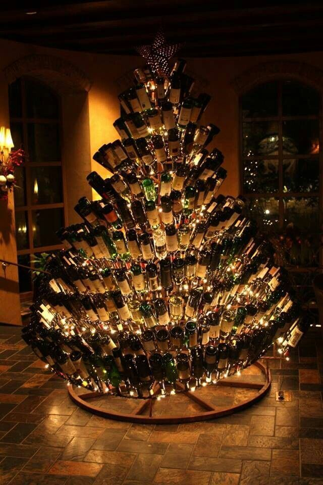 unique bottle christmas tree decoration