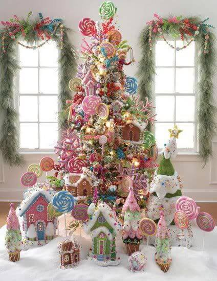 unique candy christmas tree decoration