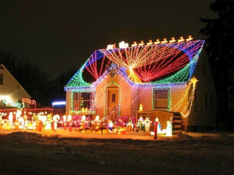 unique light Christmas decorations ideas for home