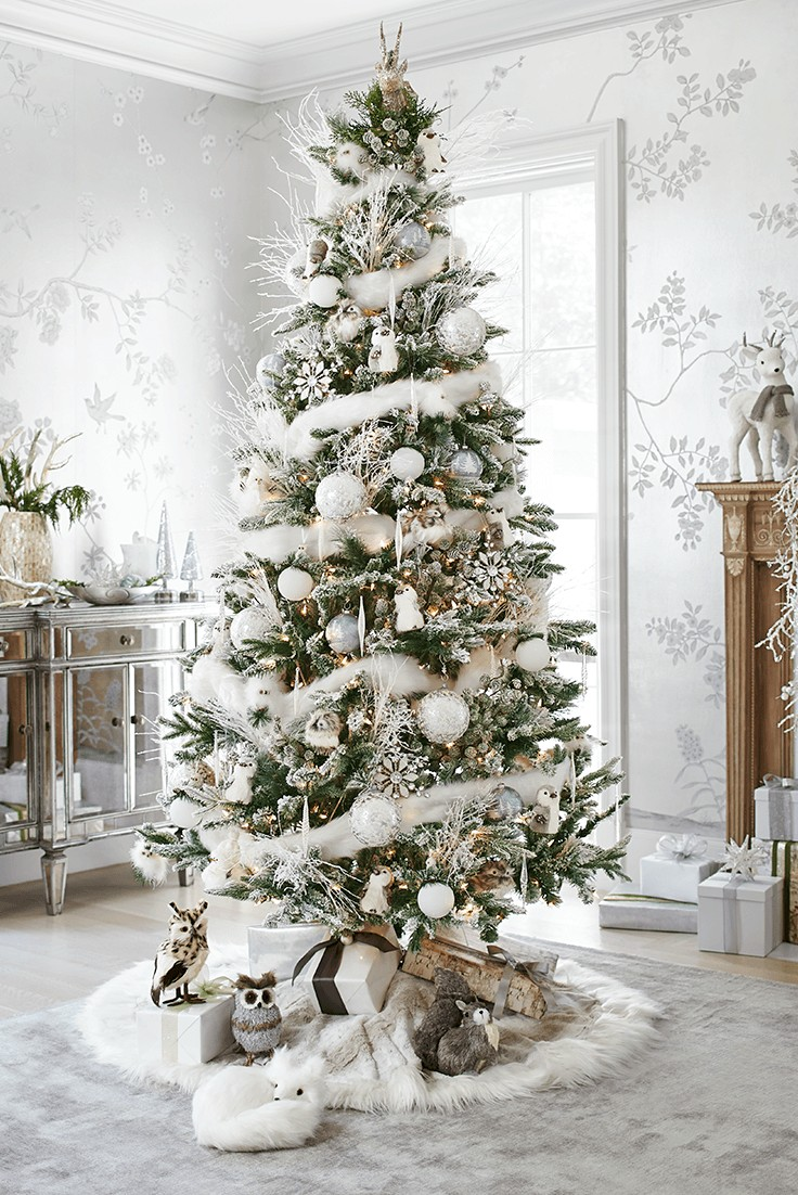 white wonderland christmas tree decoration