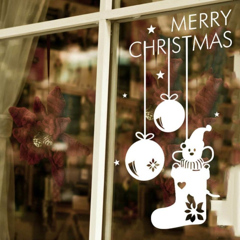 window stickers Christmas decorations ideas for home