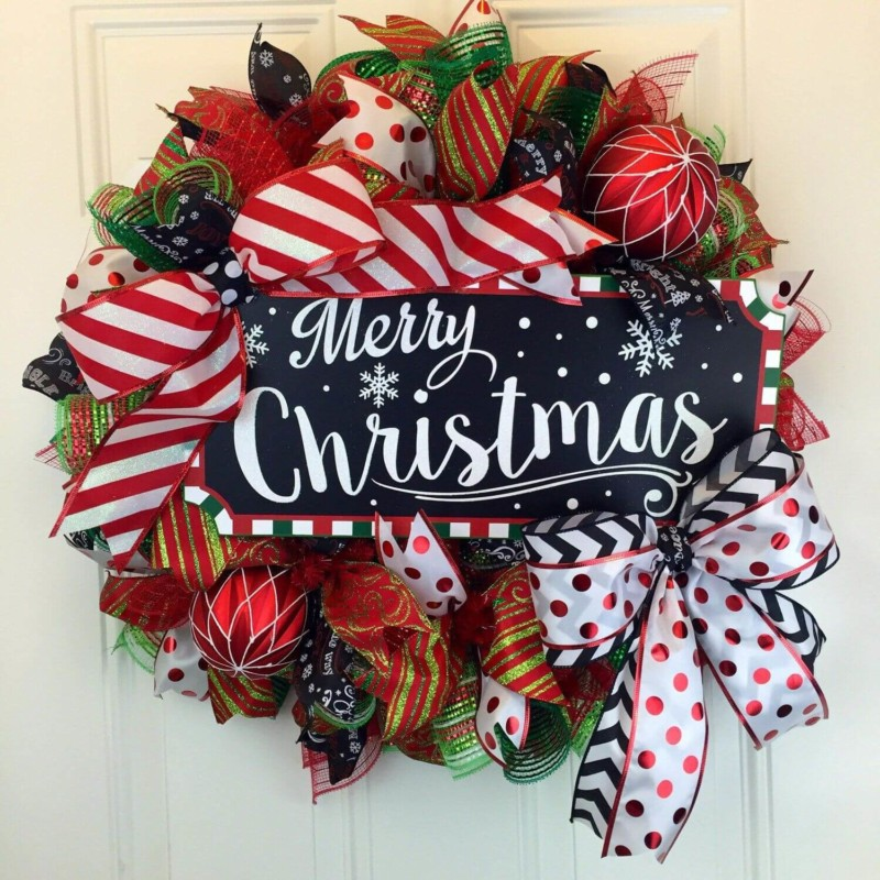 wreath merryy Christmas decorations ideas for home