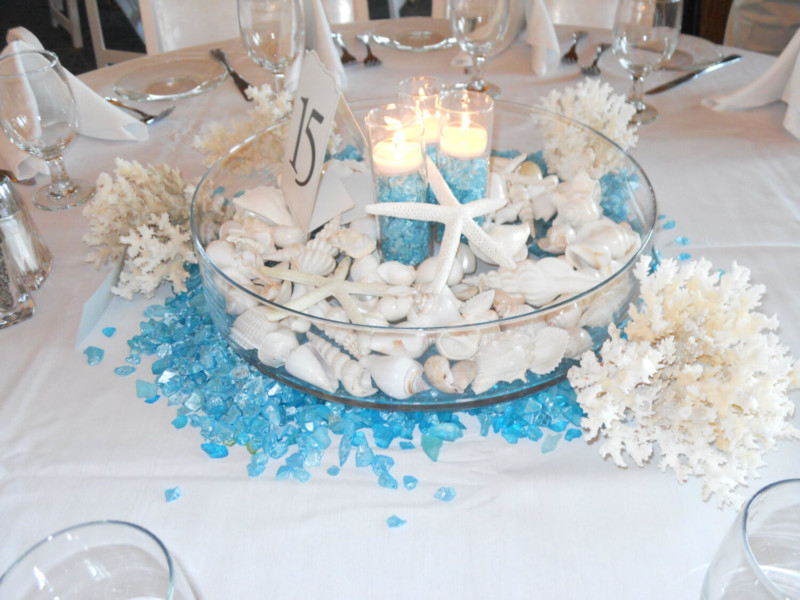 Beach Shells Wedding Centerpieces