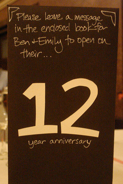 Booklet with table number Wedding Guest Book Ideas