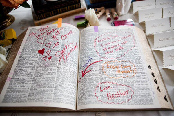 Dictionary Wedding Guest Book Ideas