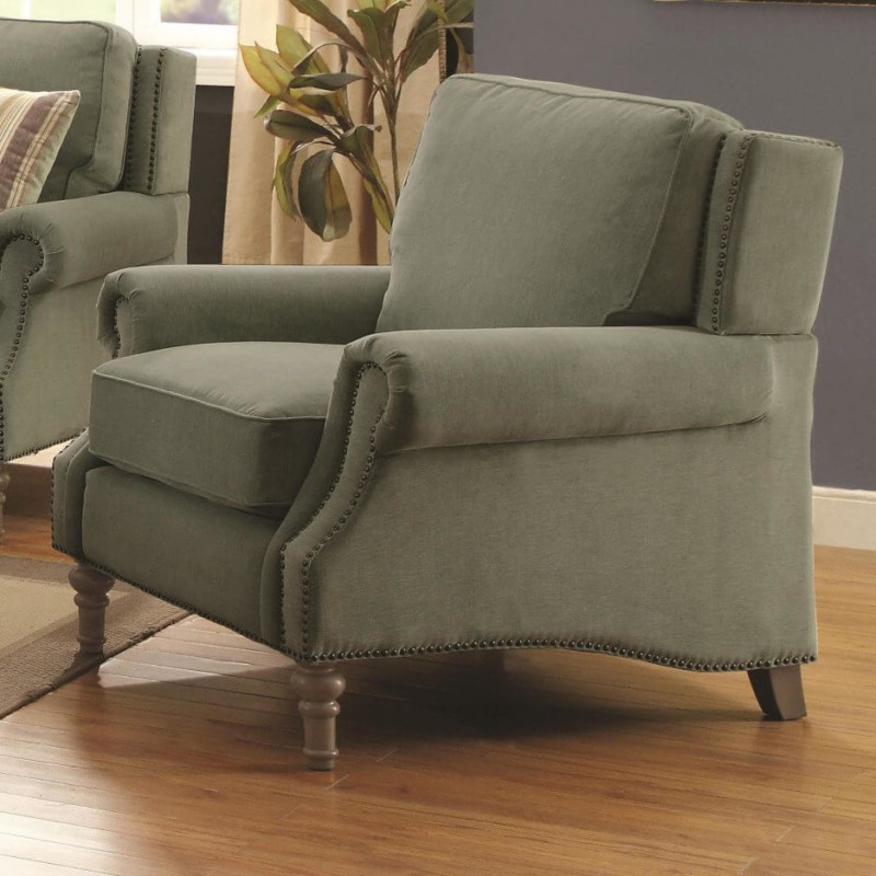 English Rolled Arm Chair in Living Room