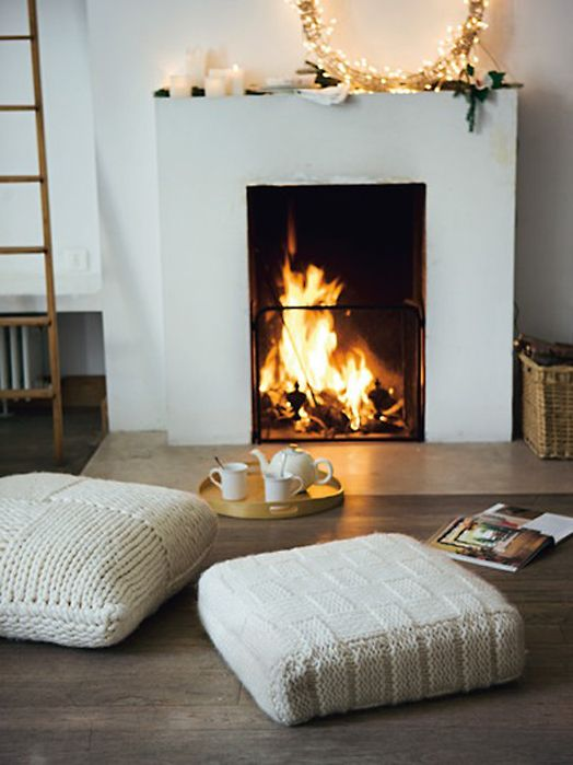 Fireplace Floor Cushion
