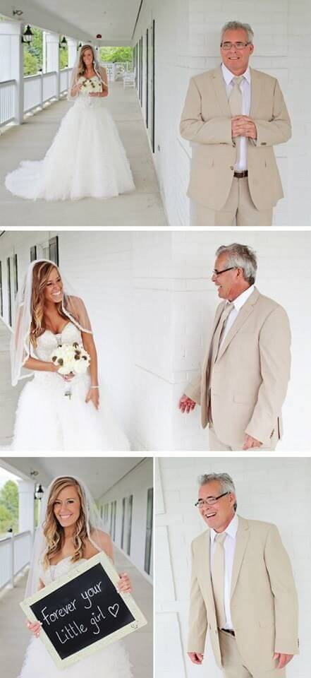 First look with Father Unique Wedding Photoshoot Ideas