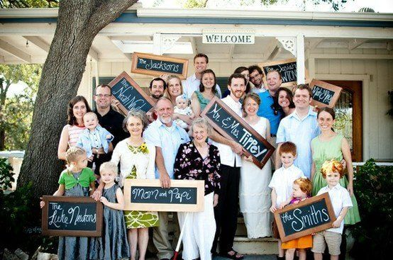 Large family with names Family Photo Shoot Idea