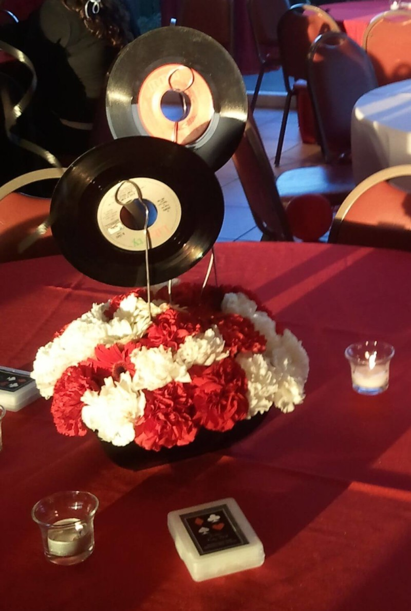 Musical Disc 2 Wedding Centerpieces