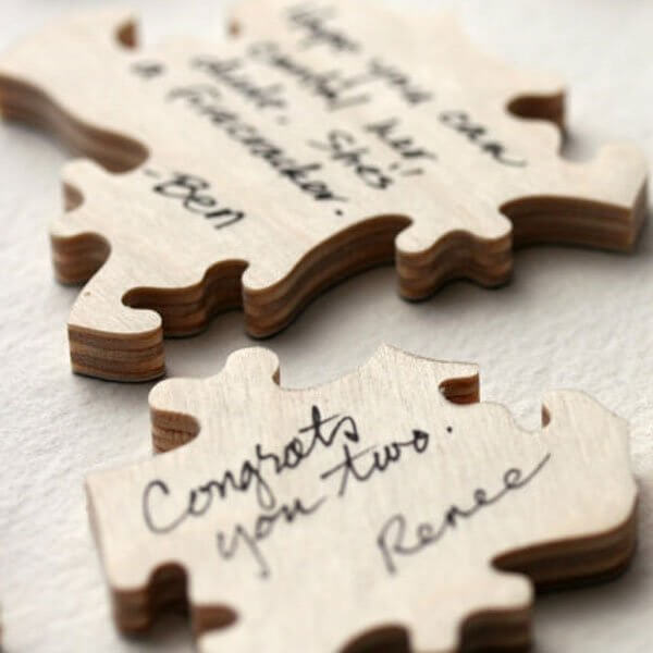 Puzzles Wedding Guest Book Ideas