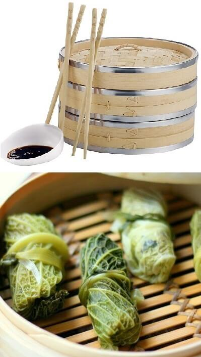 Bamboo Steamer. 50 Best Kitchen Utensils, Tools & Gadgets to Spend Less Time in the Kitchen
