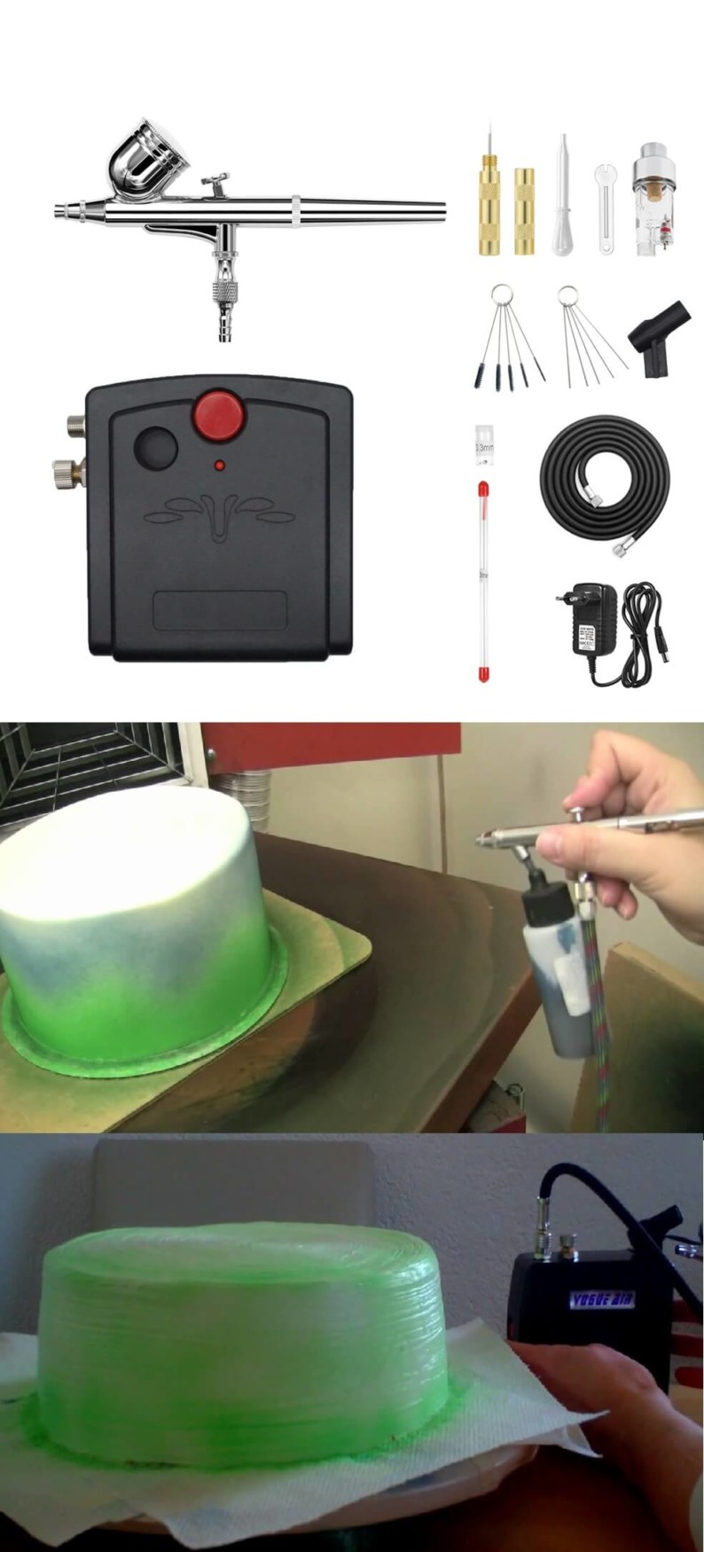 Cake Decorating Airbrush Gun, Paints, and Color | Best Cake Decorating Tools, Equipment and Supplies for Pro Decorators