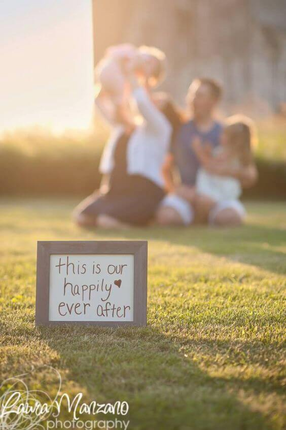 happily ever after Family Photo Shoot Idea