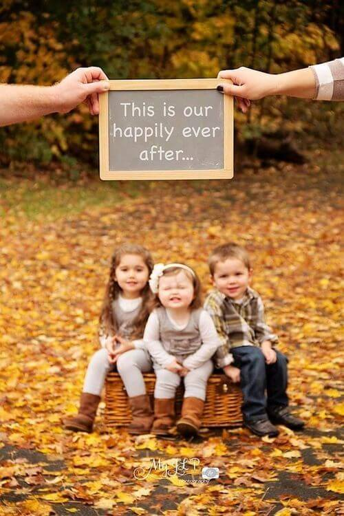 happy ever after Family Photo Shoot Idea