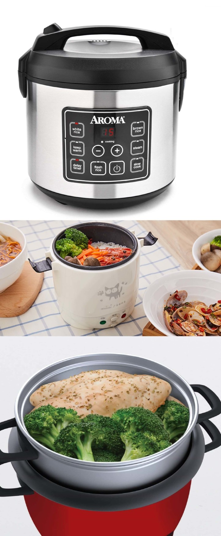 Rice cooker. 50 Best Kitchen Utensils, Tools & Gadgets to Spend Less Time in the Kitchen