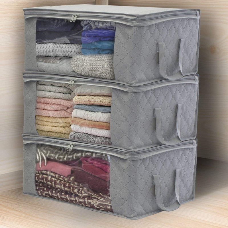 Foldable Bags with Zipper Wardrobe Organizers