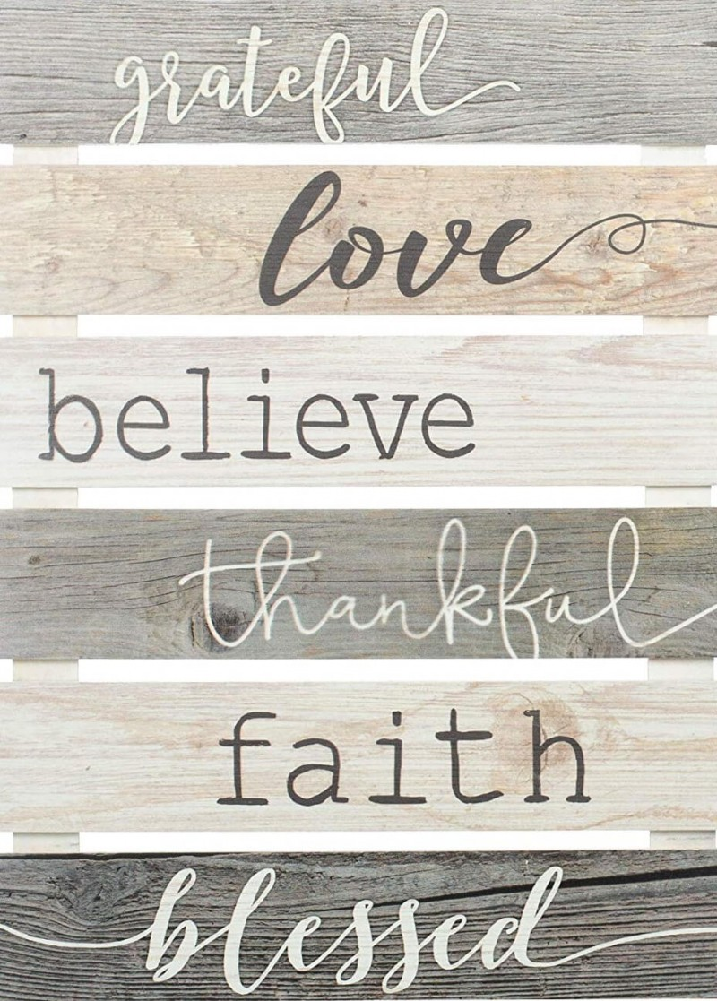 Grateful Love Believe Thankful Faith Blessed